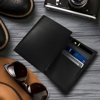 AFONiE - Men's Premium Leather Tri-fold Wallet