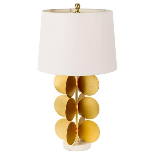Mercana Sault Yellow Metal Table Lamp 28 inches