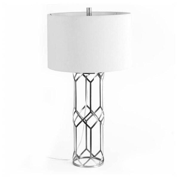 Mercana Heathrow I White Metal Table Lamp 30 inches