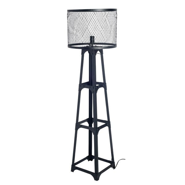 Mercana Hobson II (Box A & B) Black Metal Table Lamp 63 inches