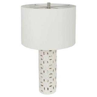Mercana Hadley White Ceramic Table Lamp
