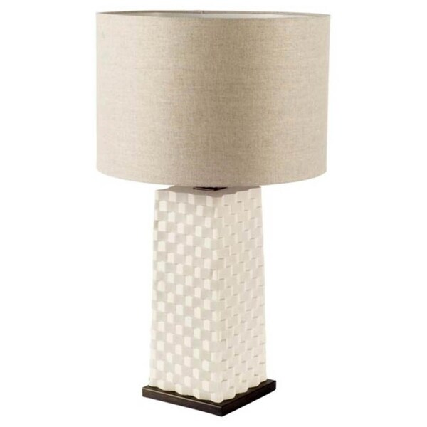 Mercana Montgomery Black Resin Table Lamp 10.75 inches