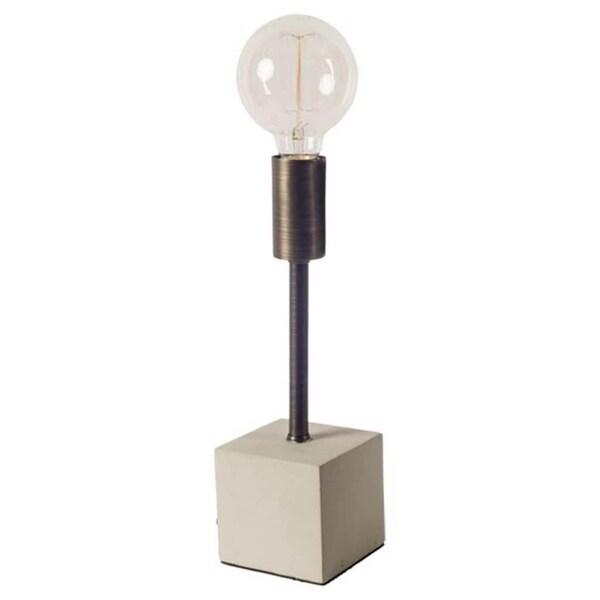 Mercana Mooney III Black Concrete Table Lamp