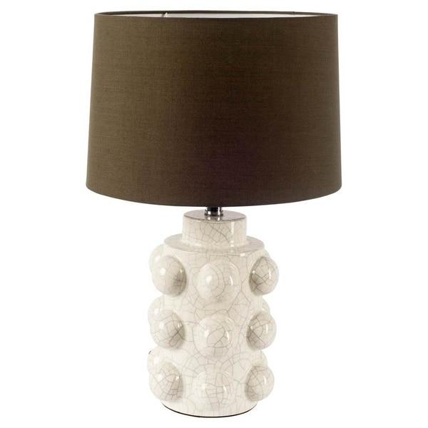 Mercana Monty White Ceramic Table Lamp 20 inches