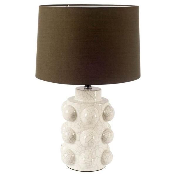Mercana Monty White Ceramic Table Lamp