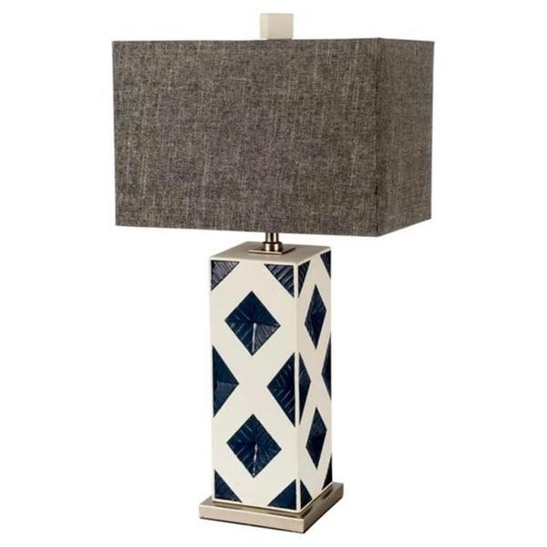 Mercana Moffat White Ceramic Table Lamp 29 inches