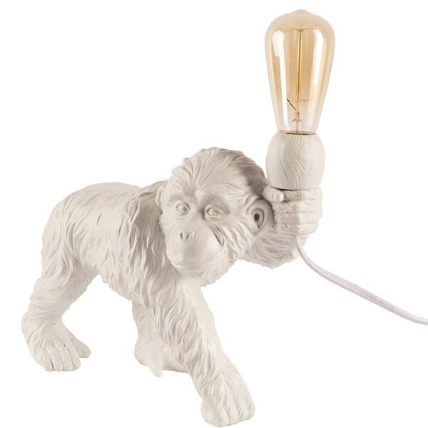 Mercana Cheeta White Resin Table Lamp