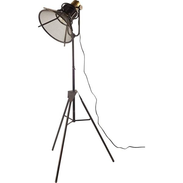 Mercana Rufus Black Metal Table Lamp 62 inches
