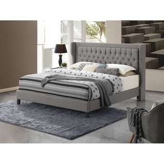 Altozzo Brighton King Bed with Upholstered Trim