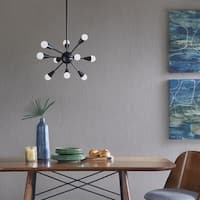 Ink and Ivy Camden Black Chandelier