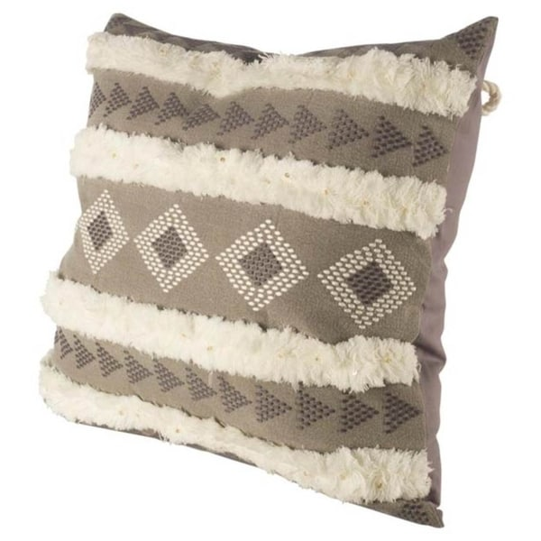 Mercana Dunollie V Brown 22-inch Throw Pillow