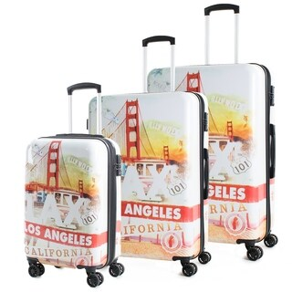 AGT California 3-Piece TSA Lock Expandable Spinner Luggage Set