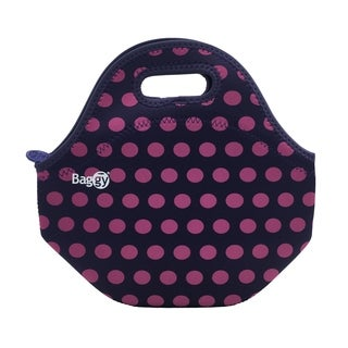 Baggy Yummy Neoprene Lunch Bag (Pink Navy)