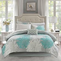 Madison Park Essentials Caldwell Aqua Comforter and Cotton Sheet Set