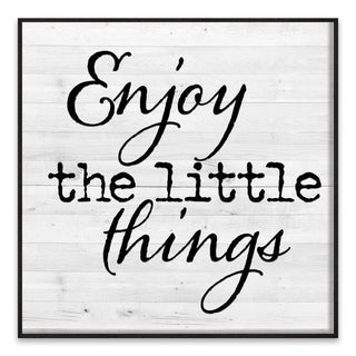 """""""Enjoy the Little Things"""" Recessed Box - 18W x 18H x 1.25D - Multi-color"""