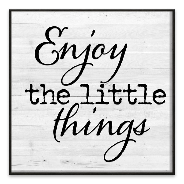 """Enjoy the Little Things"" Recessed Box - 18W x 18H x 1.25D - Multi-color"