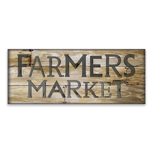 """""""Farmer's Market"""" Wood/MDF Plaque - 20W x 8H x .5D - Multi-color"""