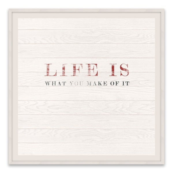 """Life Is What You Make Of It"" Recessed Box - 18W x 18H x 1.25D - Multi-color"