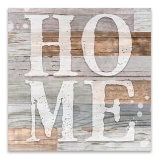 """Rustic Home"" Wood/MDF Box - 16W x 16H x 1.25D - Multi-color"
