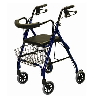 Medline Deluxe Aluminum Rollator Walker (Blue)