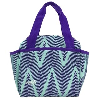 Baggy Joy Insulated Lunch Bag (Green Chevron)