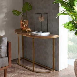 INK IVY Stephan Brown Console Table