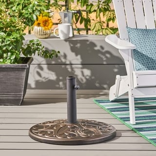 August Outdoor 60lb Concrete Circular Umbrella Base by Christopher Knight Home - N/A