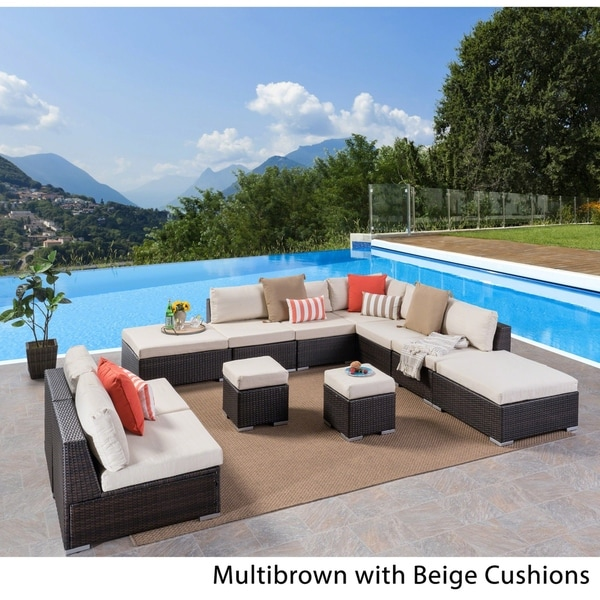 Shop Santa Rosa Outdoor 7 Seater Wicker Sofa Sectional Set