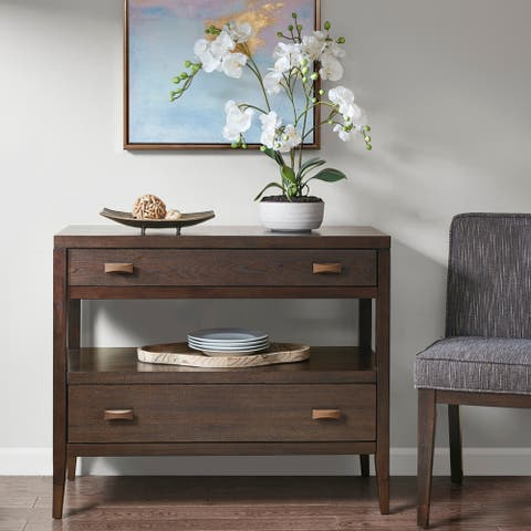 "Madison Park Syracuse Brown Console Table - 39.5w"" x 18d"" x 33.25""h"