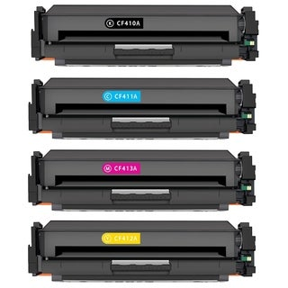 4PK Compatible CF410A CF411A CF412A CF413A Toner Cartridge For HP LaserJet Pro M452 M477 MFP M377 ( Pack of 4 )