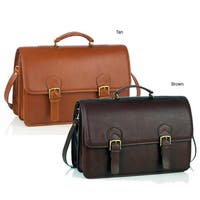 Aston Leather Multi-compartment Oversized Briefcase