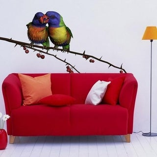 """Birds Pair Love Wildlife Full Color Wall Decal Sticker K-854 FRST Size 52""""x104"""""""