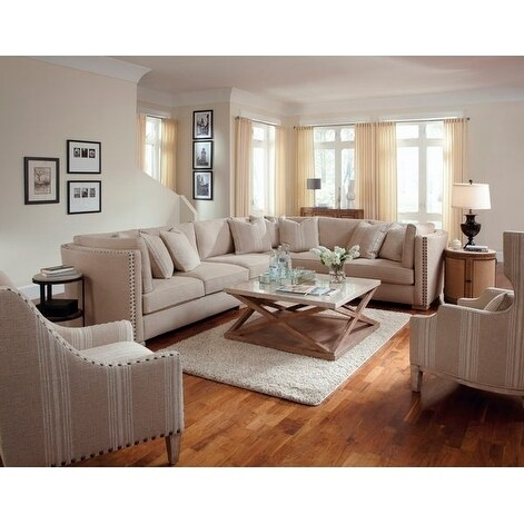 A.R.T. Furniture Madison Natural Armless Chair, Left Arm Facing/Right Arm Facing Loveseat, Corner Wedge