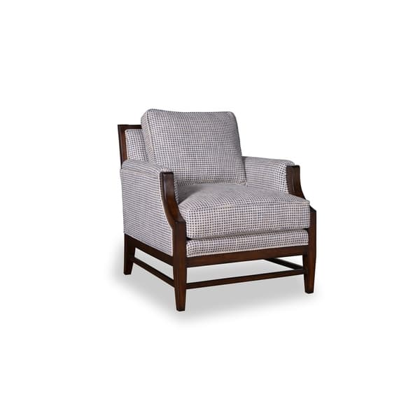 Fine A R T Furniture Bristol Linen Accent Chair With Tapered Wood Legs Ibusinesslaw Wood Chair Design Ideas Ibusinesslaworg