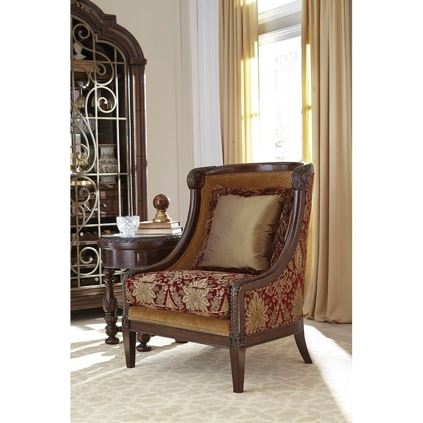 Phenomenal A R T Furniture Giovanna Caramel Carved Wood Accent Chair Unemploymentrelief Wooden Chair Designs For Living Room Unemploymentrelieforg