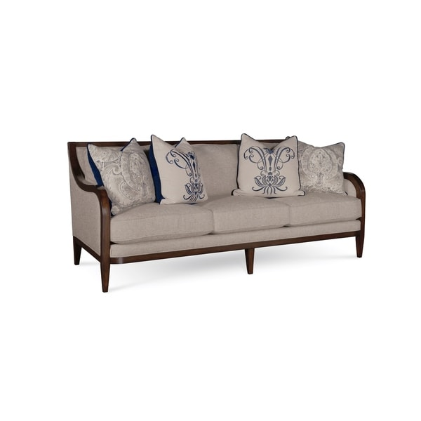 A R T Furniture Bristol Linen 3 Seat Sofa With Tapered Legs