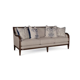 A.R.T. Furniture Bristol Linen 3 Seat Sofa with Tapered Legs