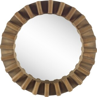 Mercana Sprocket Mirror II Wall Mirror - Light Brown - A/N