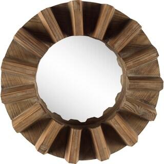 Mercana Sprocket Mirror I Wall Mirror - Light Brown - A/N