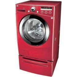 LG 4.2-cubic-foot Front Control Wild Cherry Red Washer - Thumbnail 2