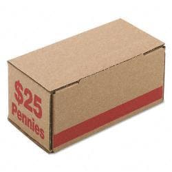 Corrugated Red Coin Storage and Shipping Boxes (Case of 50)