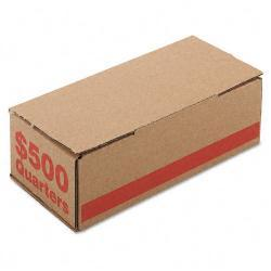 Corrugated Orange Coin Storage and Shipping Boxes (Case of 50)
