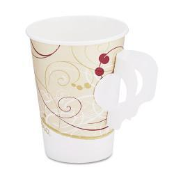 SOLO Symphony Design Hot 8 oz. Handle Drink Cups  (Case of 1000)