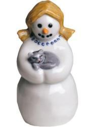 Royal Copenhagen Mother with Cat Snowman Figurine - Thumbnail 1