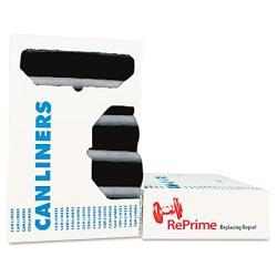 Heritage Black RePrime Can Liners 37 x 50 0.9 mils (Case of 100)