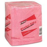 WYPALL X80 Quarterfold Red Hydroknit Wipers (Case of 50)