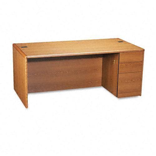 Hon 10700 Series Pedestal Desk In Medium Oak Finish Free