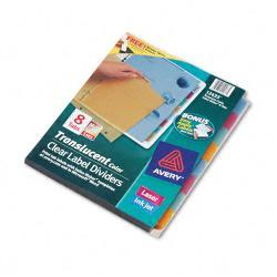 Avery Index Maker 8-Tab Set of Dividers, Multicolor (Case of 5 Sets)