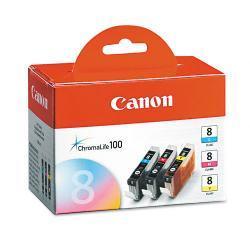 Canon 0621B016 Chromalife Ink, Cyan, Magenta, Yellow (Pack of 3)