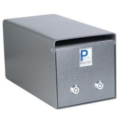 Protex Small 2-lock Under-counter Drop Box Safe